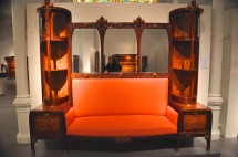 Sofa with mirror and cabinets by Busquets, mahogany, 1904