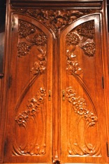 Detail of oak buffet