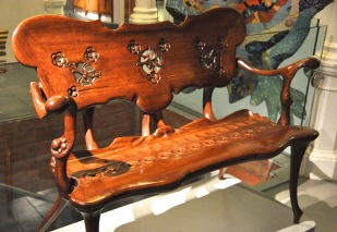 """Boardroom bench"" from Casa Calvet, about 1902"