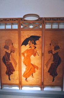 Three panel screen by Busquets, about 1900