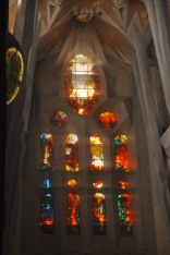 Passion facade stained glass window
