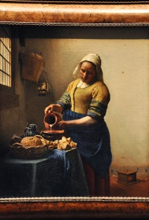 The Milkmaid; by Johannes Vermeer, 1660