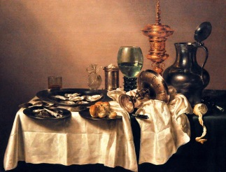 Still Life with a Gilt Cup; by Willem Claesz Heda, 1635