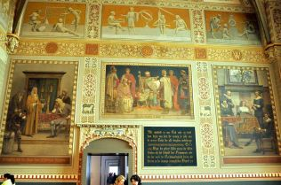 Paintings in the formal entrance hall