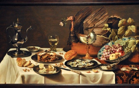Still Life with a Turkey Pie; by Pieter Claesz, 1627