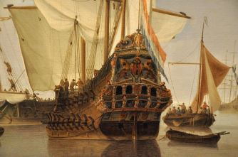 Detail of Dutch Ships in a Calm