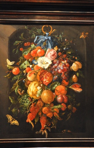 Festoon of Fruit and Flowers; by Jan Davidsz de Heem, 1660