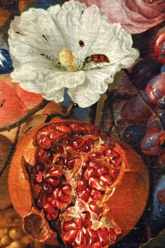 Detail of Festoon of Fruit and Flowers