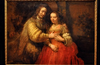 Isaac and Rebecca, Known as 'The Jewish Bride', by Rembrandt Harmensz van Rijn, 1665