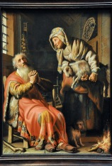 Tobit and Anna with the Kid, by Rembrandt Harmensz van Rijn, 1626