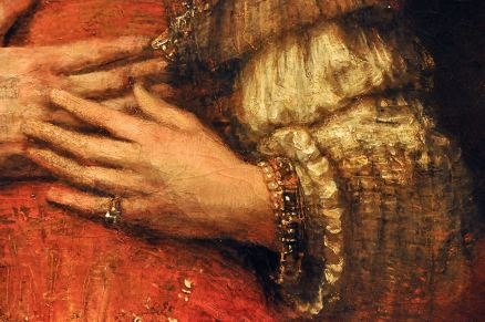 Detail of Isaac and Rebecca