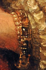 Detail of Isaac and Rebecca, showing reflections