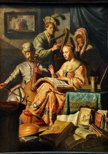 Musical Company, by Rembrandt Harmensz van Rijn, 1626