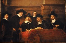 The Wardens of the Amsterdam Drapers' Guild, Known as 'The Syndics', by Rembrandt Harmensz van Rijn,1662