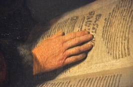 Detail of An Old Woman Reading