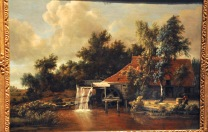 A Watermill; by Meindert Hobbema, 1664