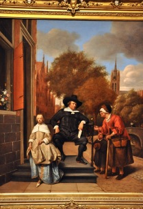 Adolf and Catharina Croeser, Known as 'The Burgomaster of Delft and his Daughter'; by Jan Havicksz Steen, 1655