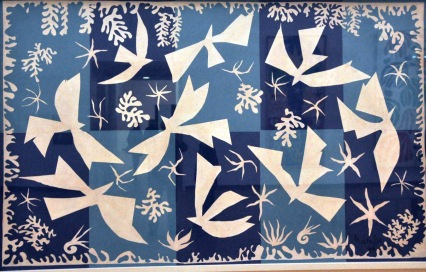Polynesia, the Sky; by Henri Matisse, 1947. It was produced as a tapestry