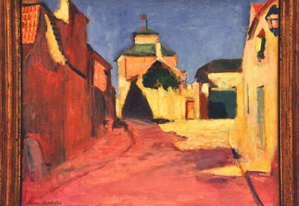 A Street at Arceuil; by Henri Matisse, 1898, showing bright colors
